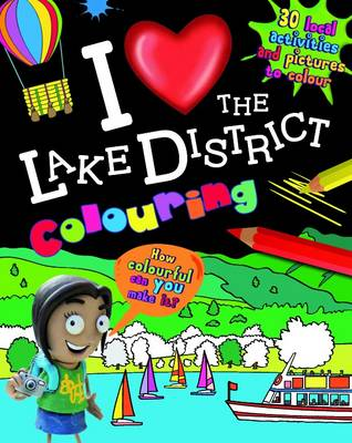 I Love the Lake District Colouring by
