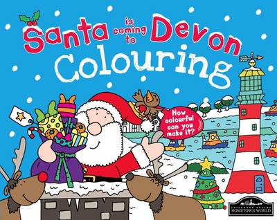 Santa is Coming to Devon Colouring by
