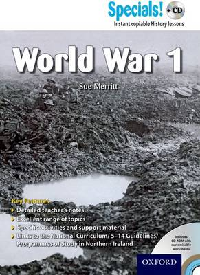 Secondary Specials! +CD: History - World War 1 by Sue Merritt