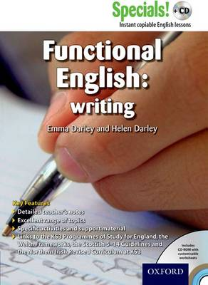 Secondary Specials! +CD: English - Functional English Writing by Emma Darley, Helen Darley