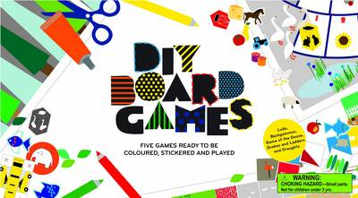 DIY Board Games Five Games Ready to be Coloured, Stickered and Played by Inca Starzinsky, Ruth Williams
