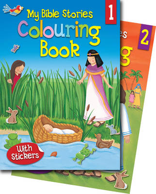 My Bible Stories Colouring Books 1 & 2 by Juliet David
