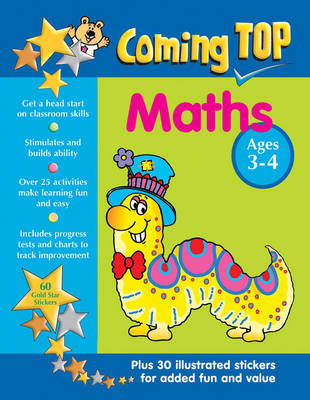Coming Top: Maths - Ages 3-4 60 Gold Star Stickers - Plus 30 Illustrated Stickers for Added Fun and Value by