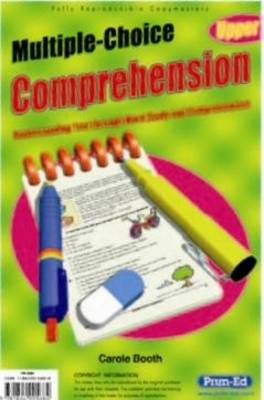 Multiple Choice Comprehension Upper Understanding Text Through Word Study and Comprehension by Carol Booth
