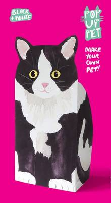 Pop Up Pet Black & White Cat by