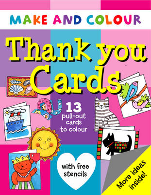 Make and Colour Thank You Cards by Clare Beaton