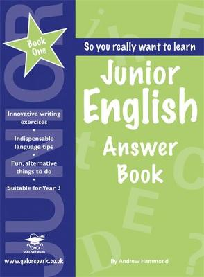 Junior English Book 1 Answer Book by Andrew Hammond