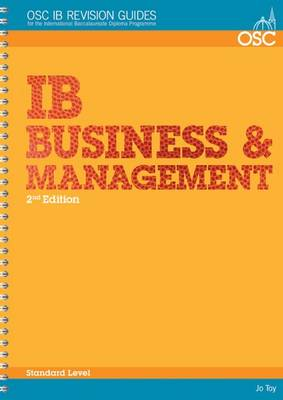 IB Business and Management Standard Level by Jo Toy