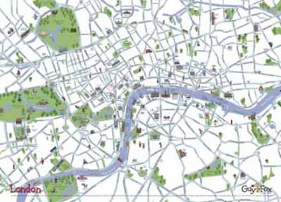 London Children's Wall Map by Kourtney Harper