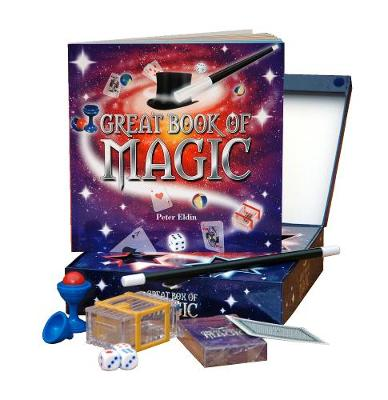 Great Box of Magic The Ultimate Magic Kit for All Budding Magicians. Contains 48-Page Full-Colour Magic Book, Magic Want and Great Tricks, Including Ball and Vase, Floating Match and Magic Coin Box by Peter Eldin