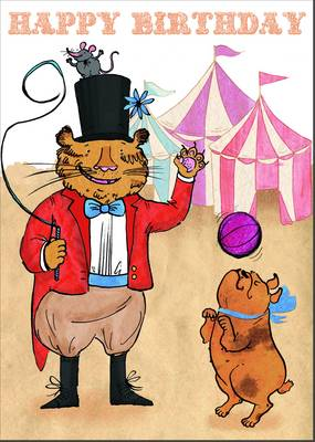 Happy Birthday Colouring: Circus by Matthew Long