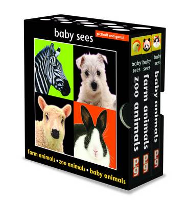 Baby Sees Animals Boxed Set Zoo Animals, Puppies, Baby Animals by Chez Picthall