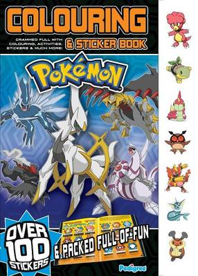 Pokemon Colouring & Sticker Book Winter by