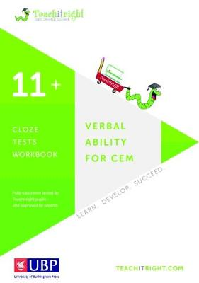 Verbal Ability for Cem 11+: Cloze Workbook by Teachitright
