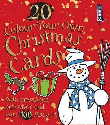 Colour Your Own Christmas Cards with Envelopes by