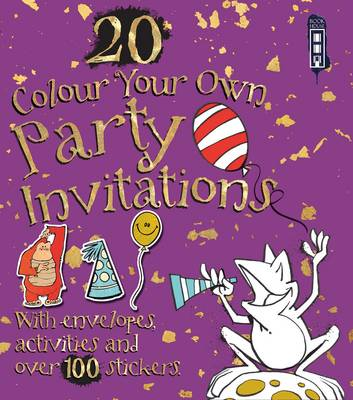 Colour Your Own Party Invitations with Envelopes by David Antram