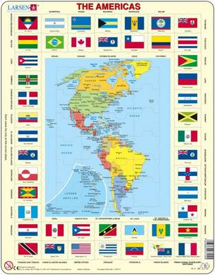 Map of the Americas by