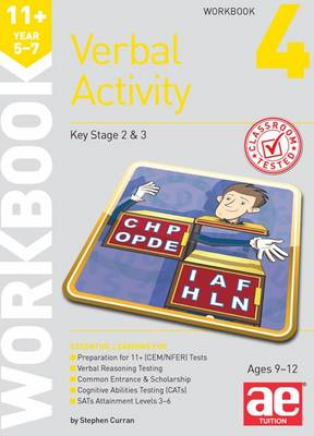 11+ Verbal Activity Year 5-7 Workbook 4 Technique for CEM Style Questions by Stephen C. Curran, Katrina MacKay