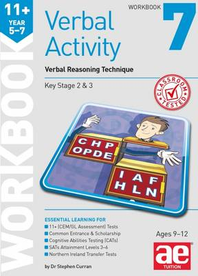 11+ Verbal Activity Year 5-7 Workbook 7 Verbal Reasoning Technique by Stephen C. Curran, Katrina MacKay