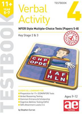 11+ Verbal Activity Year 5-7 Testbook 4 Gl Assessment Style Multiple-Choice Tests (Papers 5-8) by Stephen C. Curran, Mike Edwards, Janet Peace