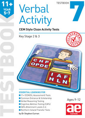 11+ Verbal Activity Year 5-7 Testbook 7: CEM Style Cloze Activity Tests by Stephen C. Curran, Warren J. Vokes