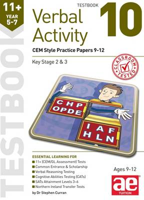 11+ Verbal Activity Year 5-7 Testbook 10 CEM Style Practice Papers 9-12 by Stephen C. Curran, Katrina MacKay