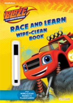 Blaze Race and Learn Wipe-Clean Book by