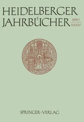 Heidelberger Jahrbucher by Universitats-Gesellschaft Heidelberg, Professor Reiner Wiehl