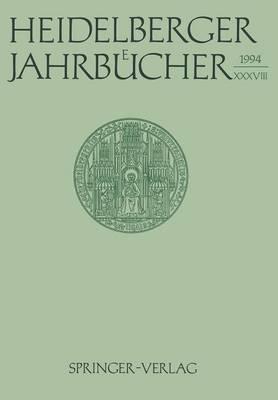 Heidelberger Jahrbucher by Universitats-Gesellschaft Heidelberg