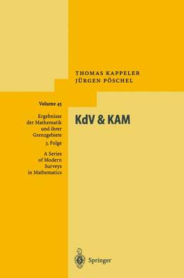 KdV & KAM by Thomas (University of Zurich, Switzerland) Kappeler, Jurgen Poschel