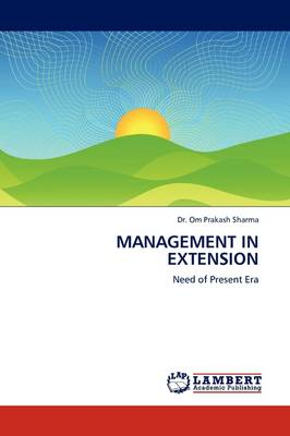 Management in Extension by Dr. Om Prakash Sharma