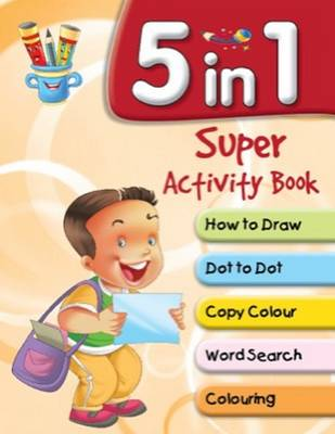 5 in 1 Super Activity Book by Pegasus