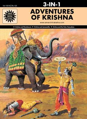 Adventures of Krishna WITH Krishna and Jarasandha by Anant Pai