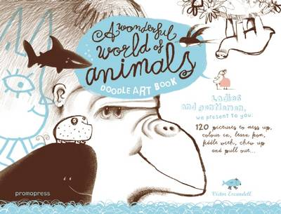 Doodle Art Book My Wonderful World of Animals by Victor Escandell
