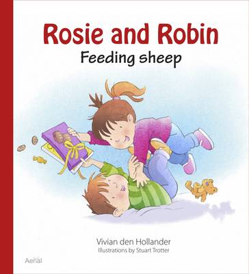 Rosie & Robin Feeding Sheep by Stuart Trotter