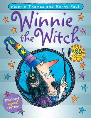 Winnie the Witch: 25th Anniversary signed hardback by Valerie Thomas