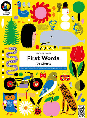 The Learning Garden: First Words Art Charts by Aino-Maija Metsola