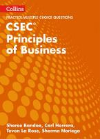 CSEC Principles of Business Multiple Choice Practice by