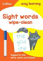 Sight Words Age 3-5 Wipe Clean Activity Book by Collins Easy Learning