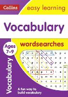 Vocabulary Word Searches Ages 7-9 by Collins Easy Learning