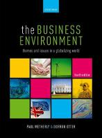 The Business Environment Themes and Issues in a Globalizing World by Paul (Reader in Politics, Leeds Beckett University) Wetherly