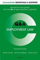 Concentrate Questions and Answers Employment Law Law Q&A Revision and Study Guide by Roseanne (Lecturer in Law, Cardiff University) Russell