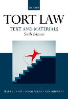 Tort Law: Text and Materials by Mark (Professor of Law, University of New England in New South Wales) Lunney, Donal (Professor of Private Law, Universit Nolan