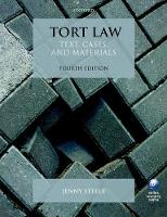 Tort Law Text, Cases, and Materials by Jenny (Professor & Director of Research, York Law School, University of York) Steele