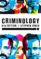 Criminology by Stephen (Honorary Senior Lecturer, School of Law, University of Bristol) Jones
