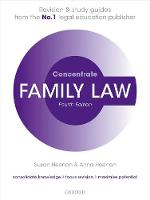 Family Law Concentrate Law Revision and Study Guide by Susan (Principal Lecturer in Law, University of the West of England) Heenan, Anna (Solicitor, The Family Law Practice a Heenan