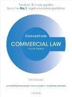 Commercial Law Concentrate Law Revision and Study Guide by Eric (Senior Lecturer in Law, Liverpool John Moores University) Baskind