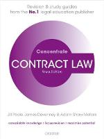 Contract Law Concentrate Law Revision and Study Guide by Jill (The late Deputy Dean, Aston Business School and Professor of Commercial Law, Aston University) Poole, James (Mc Devenney