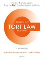 Tort Law Concentrate Law Revision and Study Guide by Carol (Senior Lecturer in Law, University of Buckingham) Brennan