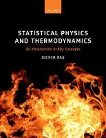 Statistical Physics and Thermodynamics An Introduction to Key Concepts by Jochen (Professor of Mathematics, RheinMain University of Applied Sciences) Rau